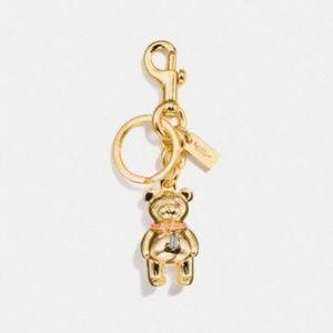 Coach 3D Bear Keychain/Handbag Charm